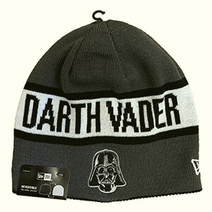 Darth Vader logo and text reversible Star Wars beanie