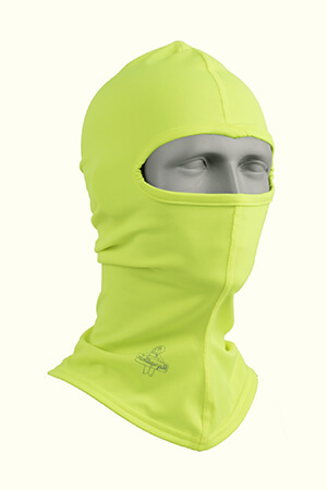 Neon yellow lightweight balaclava