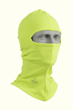 Neon yellow lightweight balaclava