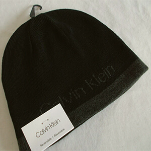 Reversible bottom stripe Calvin Klein beanie men