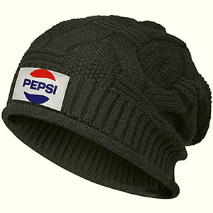 Slouchy knit Pepsi beanie