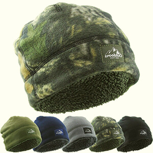 Winter skull double-layer fleece-lined beanie men