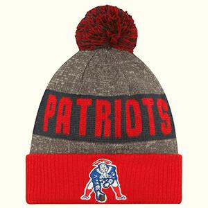 Multicolor Patriots beanie with vintage logo