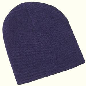 Navy blue baby boy's beanie hat