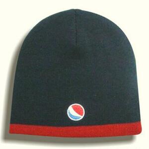 Pepsi dark navy knit beanie