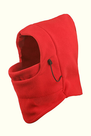 Red cold weather balaclava face mask