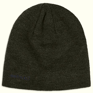 Charcoal Calvin Klein beanie men with blue embroidery