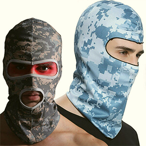 Light blue digital camouflage winter mask