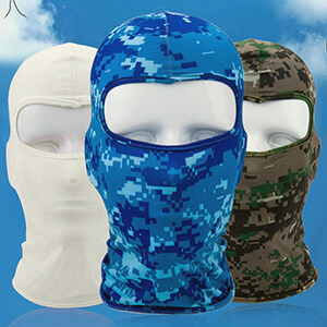 Navy blue digital camouflage balaclava