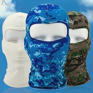 Navy blue digital camouflage balaclava