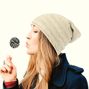Baggy beanie women's horizontal cable knit
