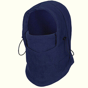 Blue face mask for cold