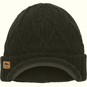 Cable knit wool Coal Yukon brim beanie