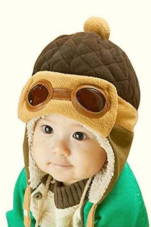 Ear flaps pilot winter cap for baby boy