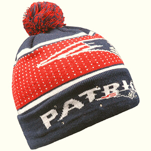 Knit Patriots beanie with LED lights
