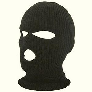 Black knit winter face mask