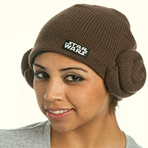Brown Princess Leia Star wars beanie