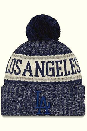 Fleece lining blue LA Dodgers beanie with pom pom