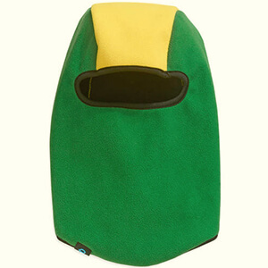 Green-yellow fleece kid's winter face mask
