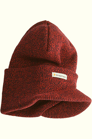 Mens Red with black threads Carhartt billed beanie