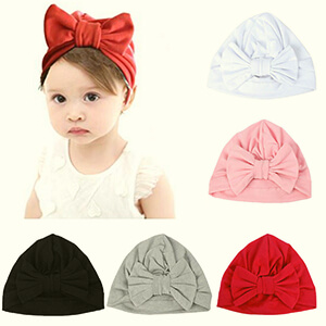 5 pack infant girl's beanie with bow