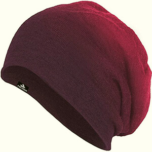 Baggy beanie women's ombre design with tiny knit