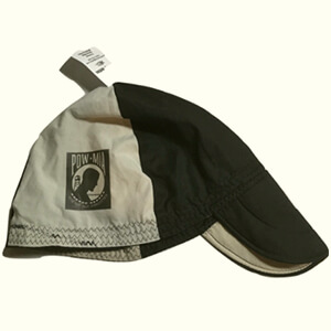 Black-gray welding beanie