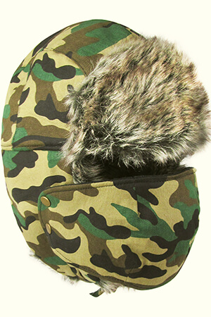 Camouflage fleeced snow face mask