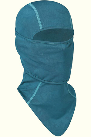 Green balaclava mask with a long neck
