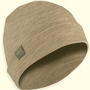 Folded thin lines design merino wool watch cap