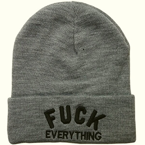 Fuck everything script funny beanies for guys
