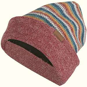 Striped colorful water-resistant beanie
