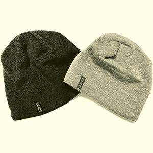 Two pieces set merino wool beanie