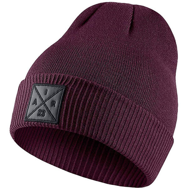 Dark purple casual air Jordan beanie