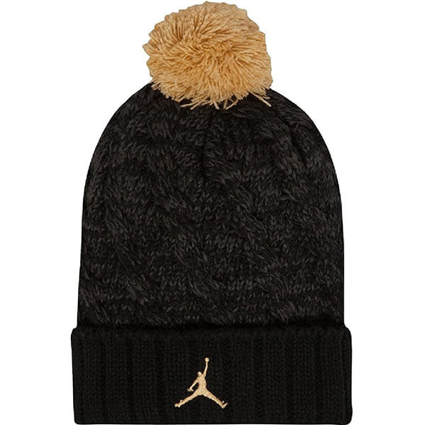Black-gold metallic Jordan beanie