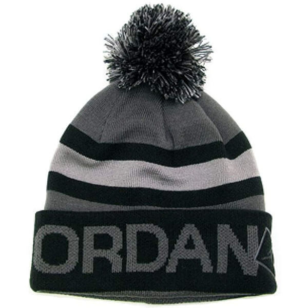 Jordan beanie men with pom pom