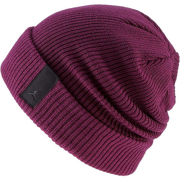 Loose Bordeaux purple Jordan beanie men