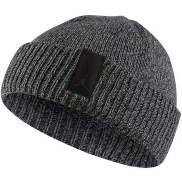 Charcoal gray fisherman style Jordan beanie men