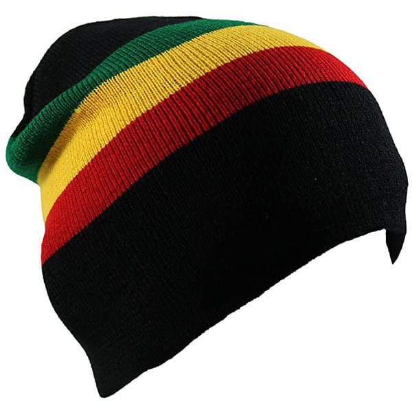 Rasta Colored Short Beanie
