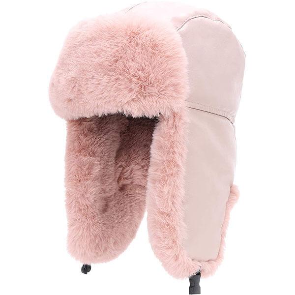 Faux Fur Earflap Winter Hat