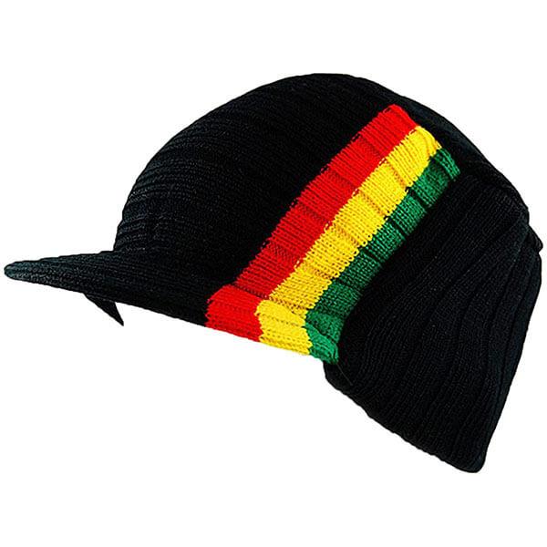 Rasta Beanie Knit Skull Cap
