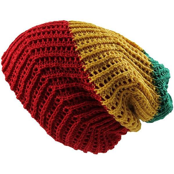 Unisex Knit Slouch Reversible Beanie