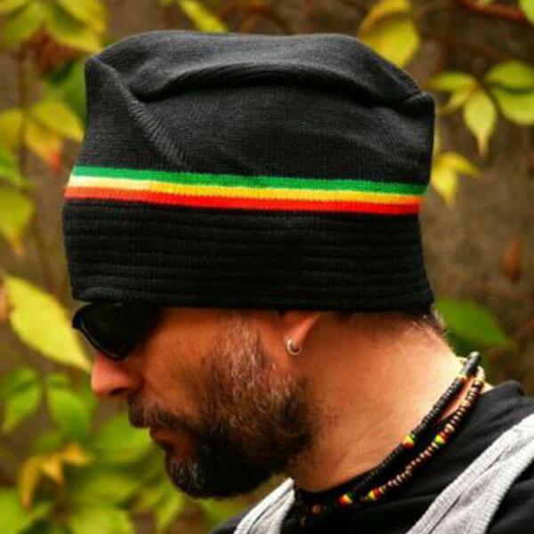 Hat Shaped Rasta Beanie