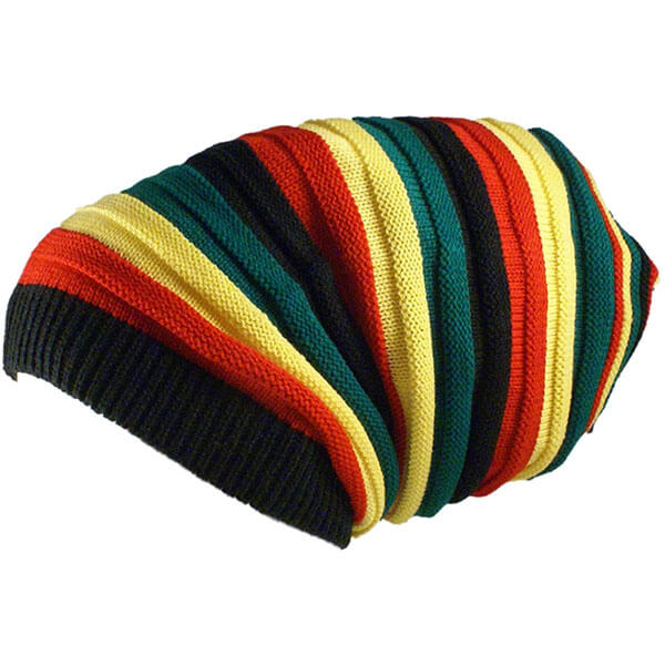 Rasta Knit Tam Hat Dreadlock Cap