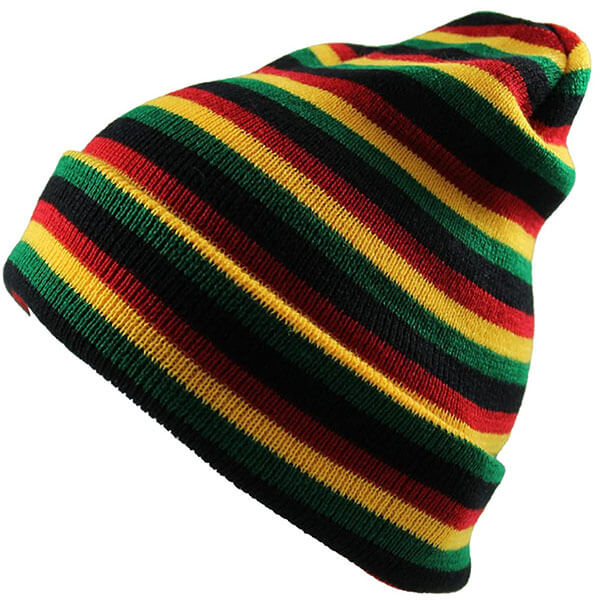 Men's Rasta Multi Long Beanie