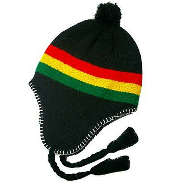 Rasta Reggae Beanie with Ear Flaps