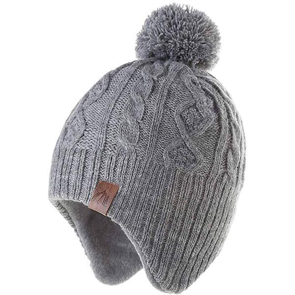 Warm Fleece Baby Girls Winter Hat