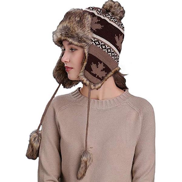 Faux Fur Knit Women's Winter Hat