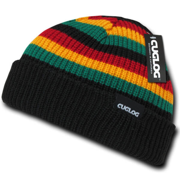 Unisex Sailor Striped Beanie Hat