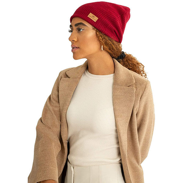 Adjustable Satin Lined Wool Winter Cap
